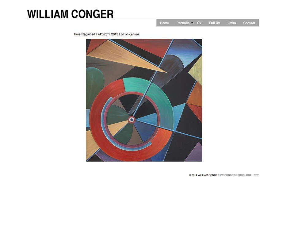 William Conger home page