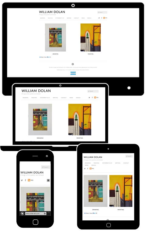 William Dolan responsive website
